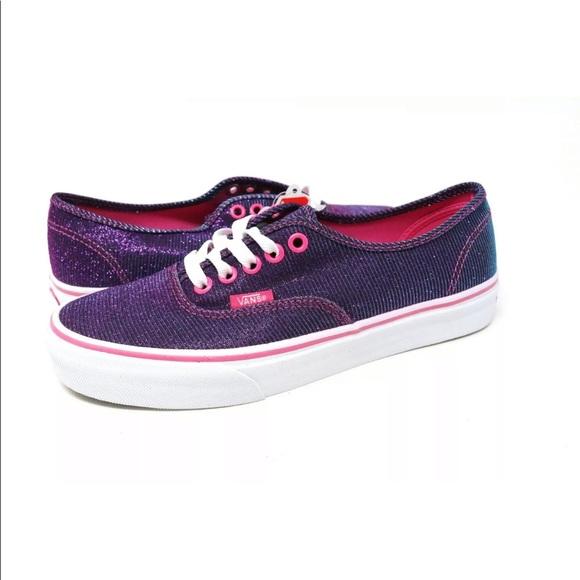 słodkie tanie nowa wysoka jakość najwyższa jakość Vans Authentic Shimmer Magenta Shoes NWT